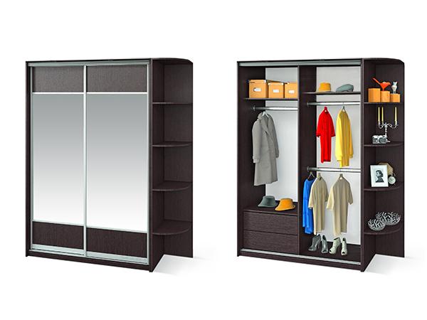 """Шкаф для одежды """"премьер"""" 1480 с приставкой фабрики жлобинме."""
